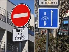 Image des panneaux double-sens-cyclable