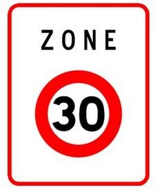 Image du panneau Zone 30