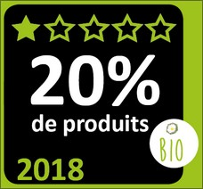 Image du label 20% de produits bio en 2018