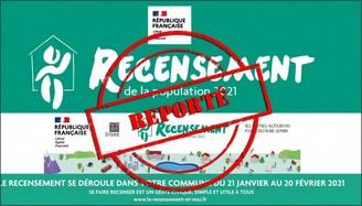 Image de la campagne du recensement 2021 (campagne reportée en 2022)
