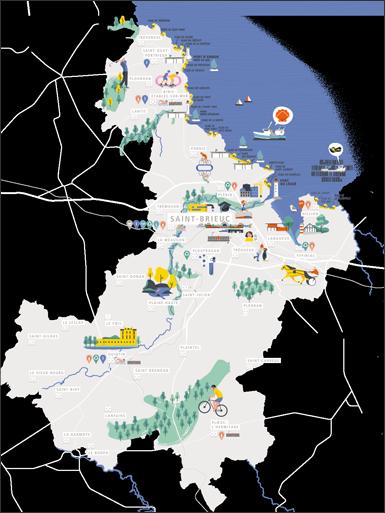 Carte du territoire de Saint-Brieuc Armor Agglomération