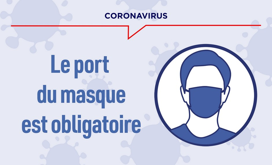 Infographie Port du masque obligatoire